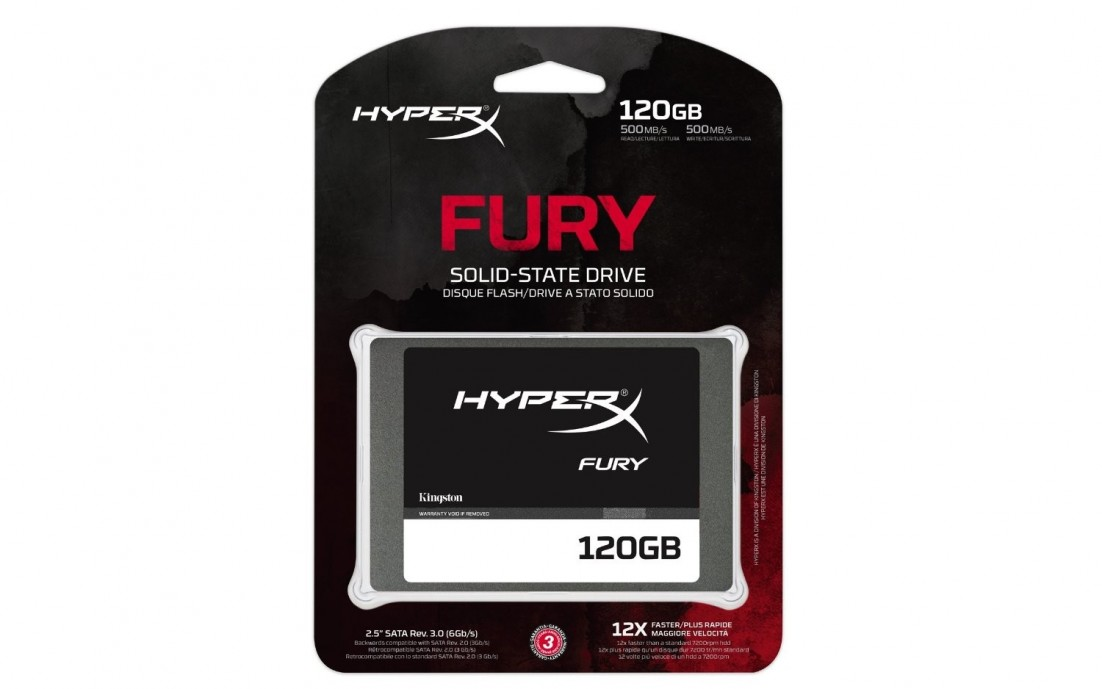 Disco duro sólido Kingston de 120GB SSD HyperX Fury 120GB SATA3