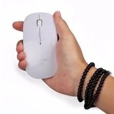 Ratón recargable / Mouse blanco ultra slim bluetooh compatible con iMac o portátil