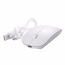 Rechargeable Mouse / White Mouse ultra slim bluetooth compatible with iMac or laptop