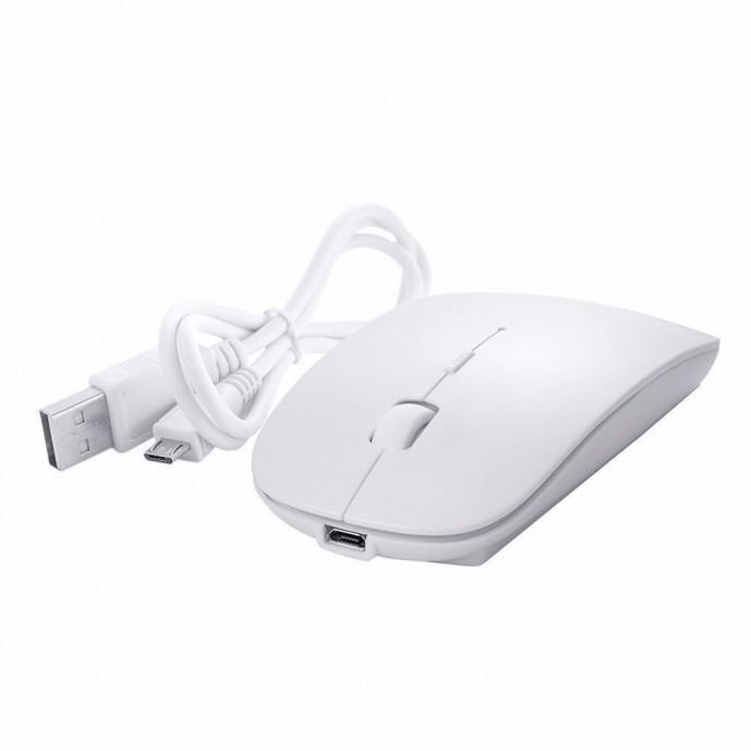 Ratolí recarregable / Mouse blanc ultra slim bluetooth compatible amb iMac o portàtil