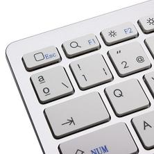 Teclado Bluetooh compatible para iMac, iPad, iPhone, TV, Tablet