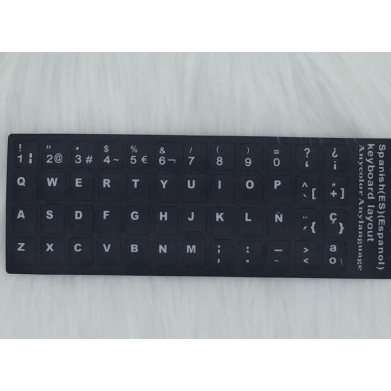 Etiquetas adhesivas para teclado Macbook Por o Air Español
