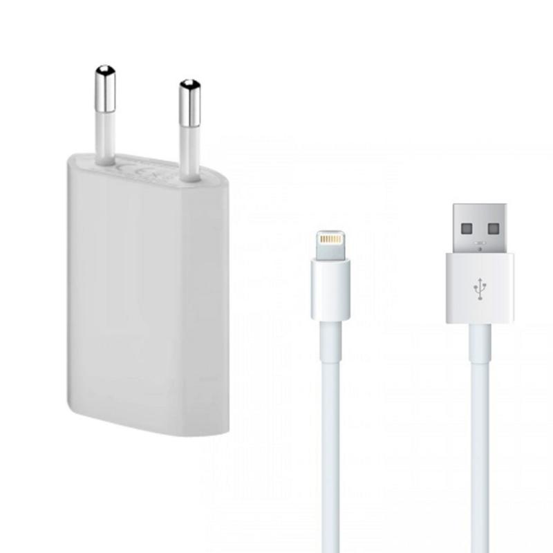 Cargador compatible + Cable para iPhone 5, iPhone 5s o 5c, iPhone 6 o 6s o Plus