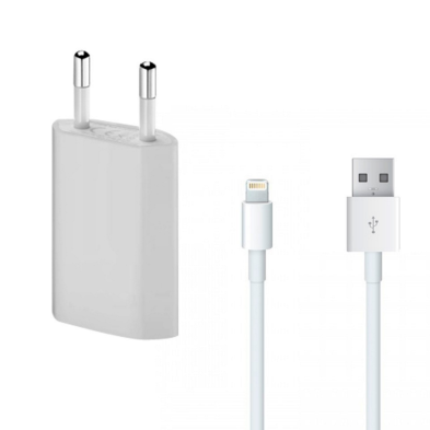Compatible charger + Cable for iPhone 5, iPhone 5s or 5c, iPhone 6 or 6s or Plus