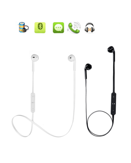 Auriculares Bluetooth para actividades deportivas color Negro / blanco