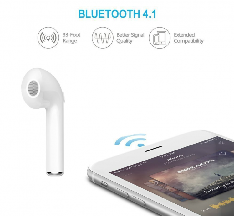 Wireless Bluetooth Headset for iPhone, Samsung, Mac, MP3