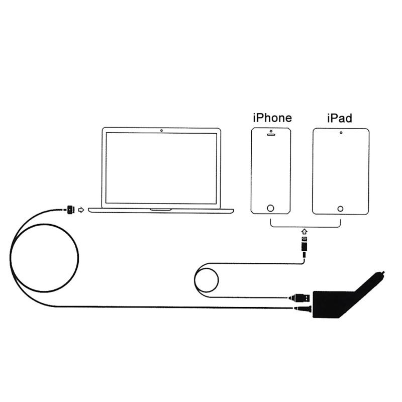 Magsafe-2 KFZ-Ladegerät für Macbook Air und Macbook Pro Retina