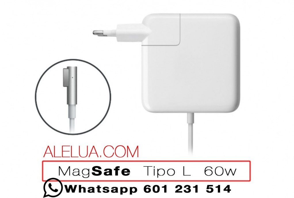 60W Cargador Compatible para Apple Macbook | 16.5V - 3.65A | MAGSAFE