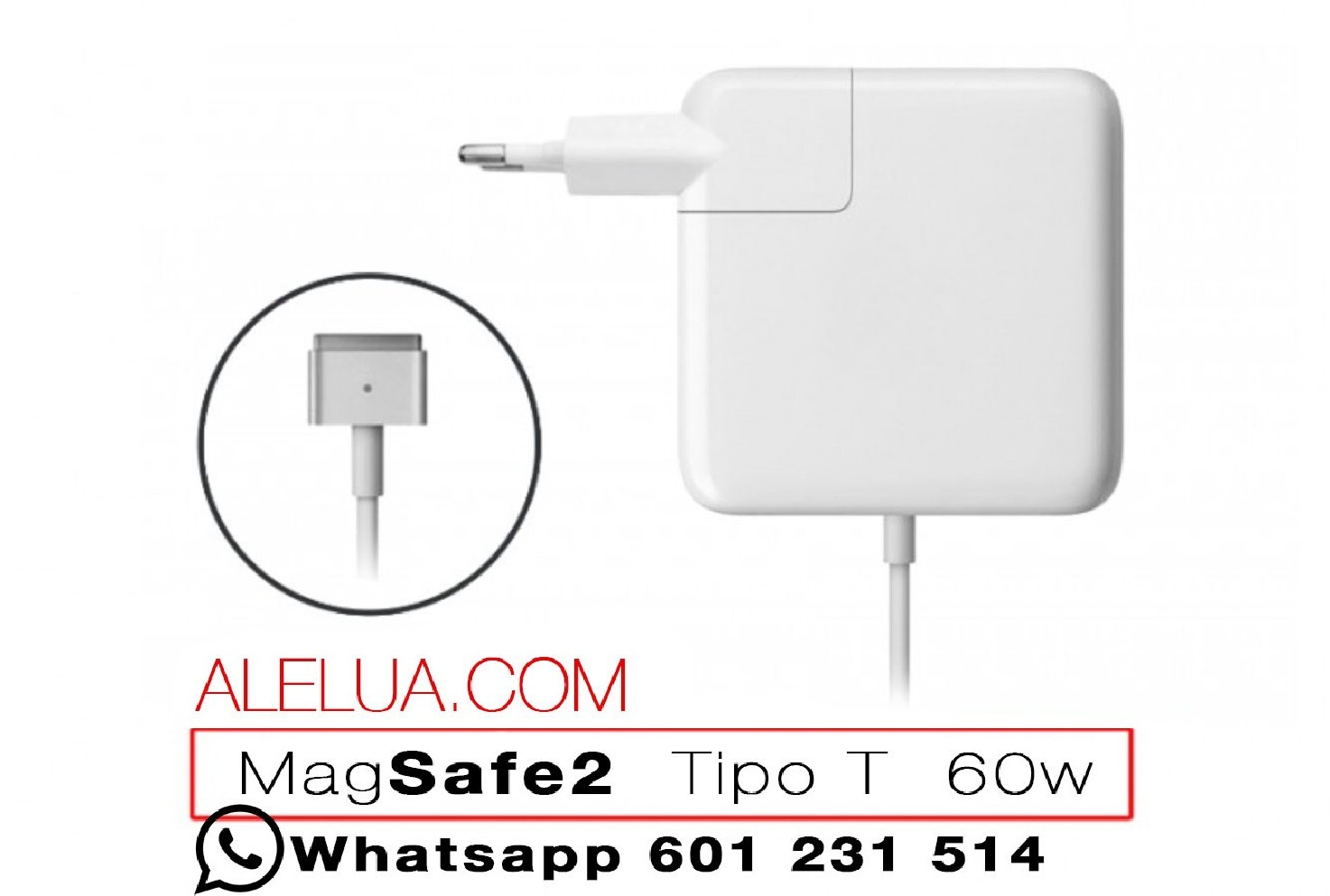 71727eda30 60W Magsafe 2 - Compatible Charger for Apple Macbook | 16.5V - 3.65A ...