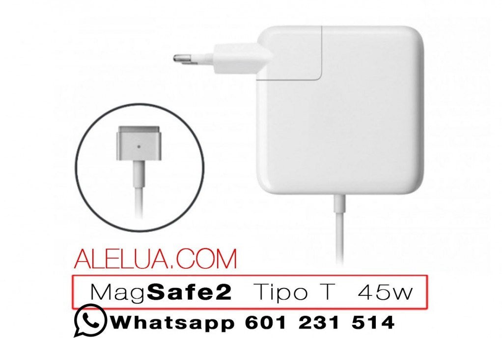 45W Magsafe 2 - carregador compatível para Apple Macbook | 14.85V - 3.05A