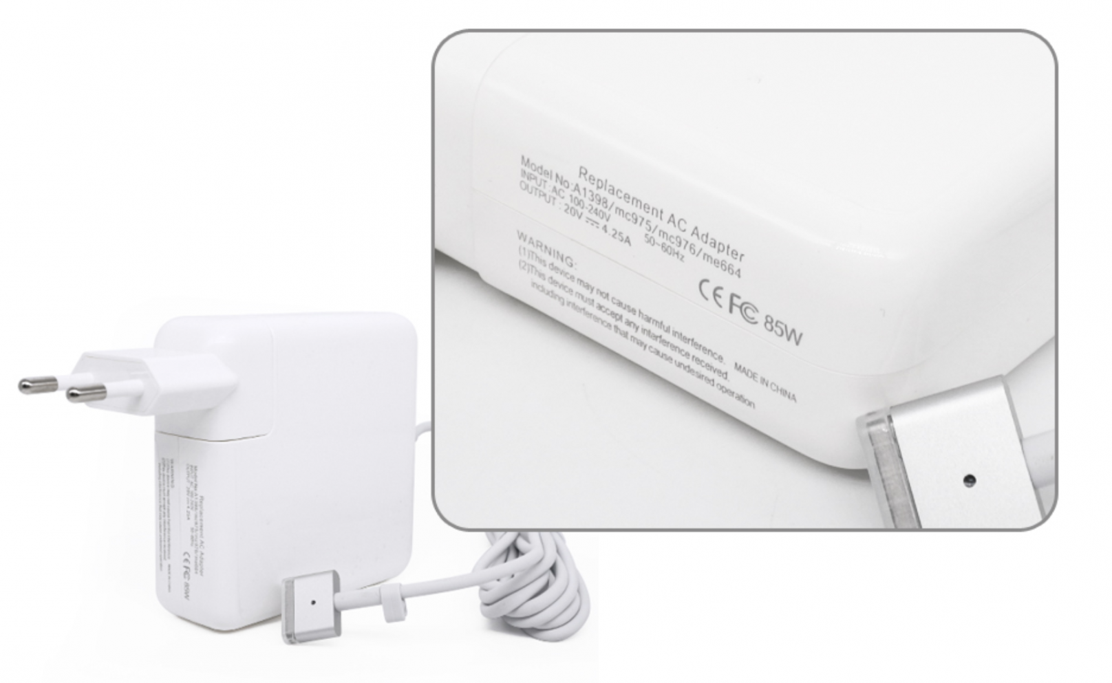 85w Magsafe 2 Ladegert Kompatibel Fr Apple Macbook 20v 425a Adapter Charger 60 Watt