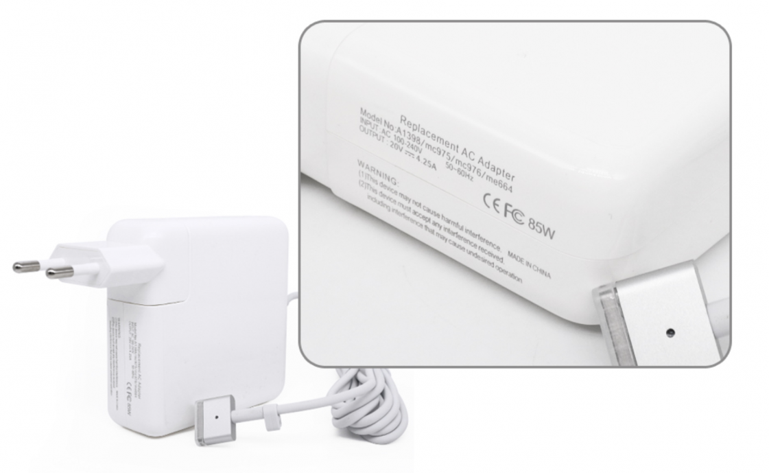 85W Magsafe 2 - carregador compatível para Apple Macbook | 20V - 4.25A