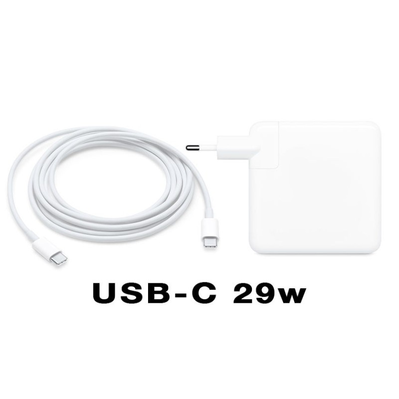 """Cargador USB 3.1 Tipo-c de 29w para Macbook 12"""""""