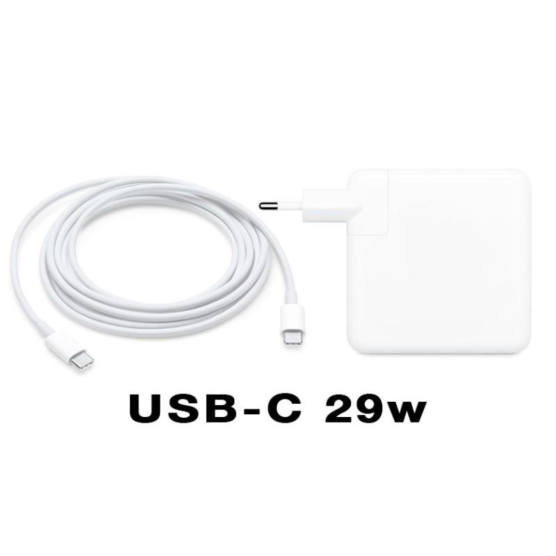 "Cargador USB 3.1 Type-C de 29w para Macbook 12"""