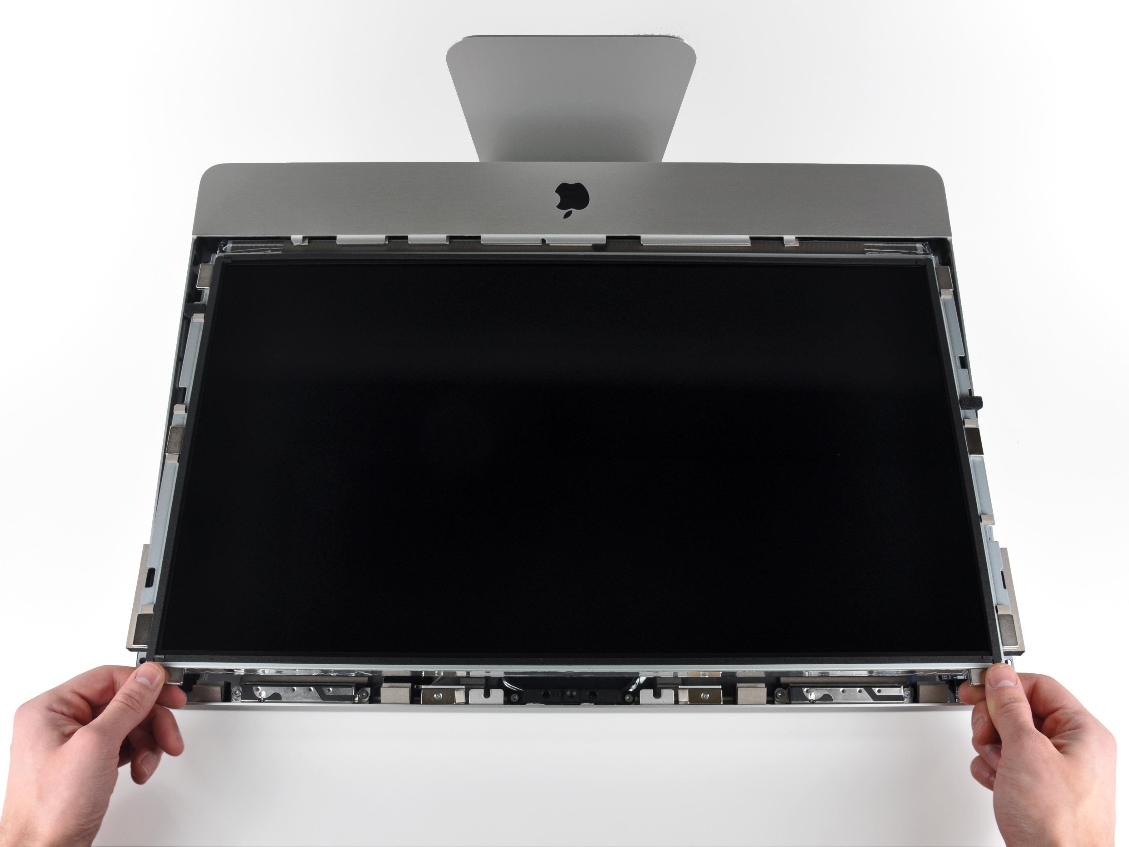 Paso 9 levantar LCD imac apple